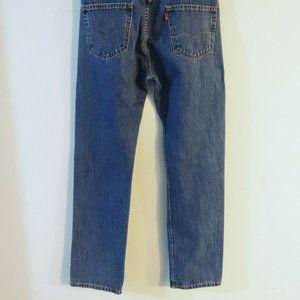 Levi's-505 Mens Jeans Blue Size 33x34 Regular Straight Leg Denim